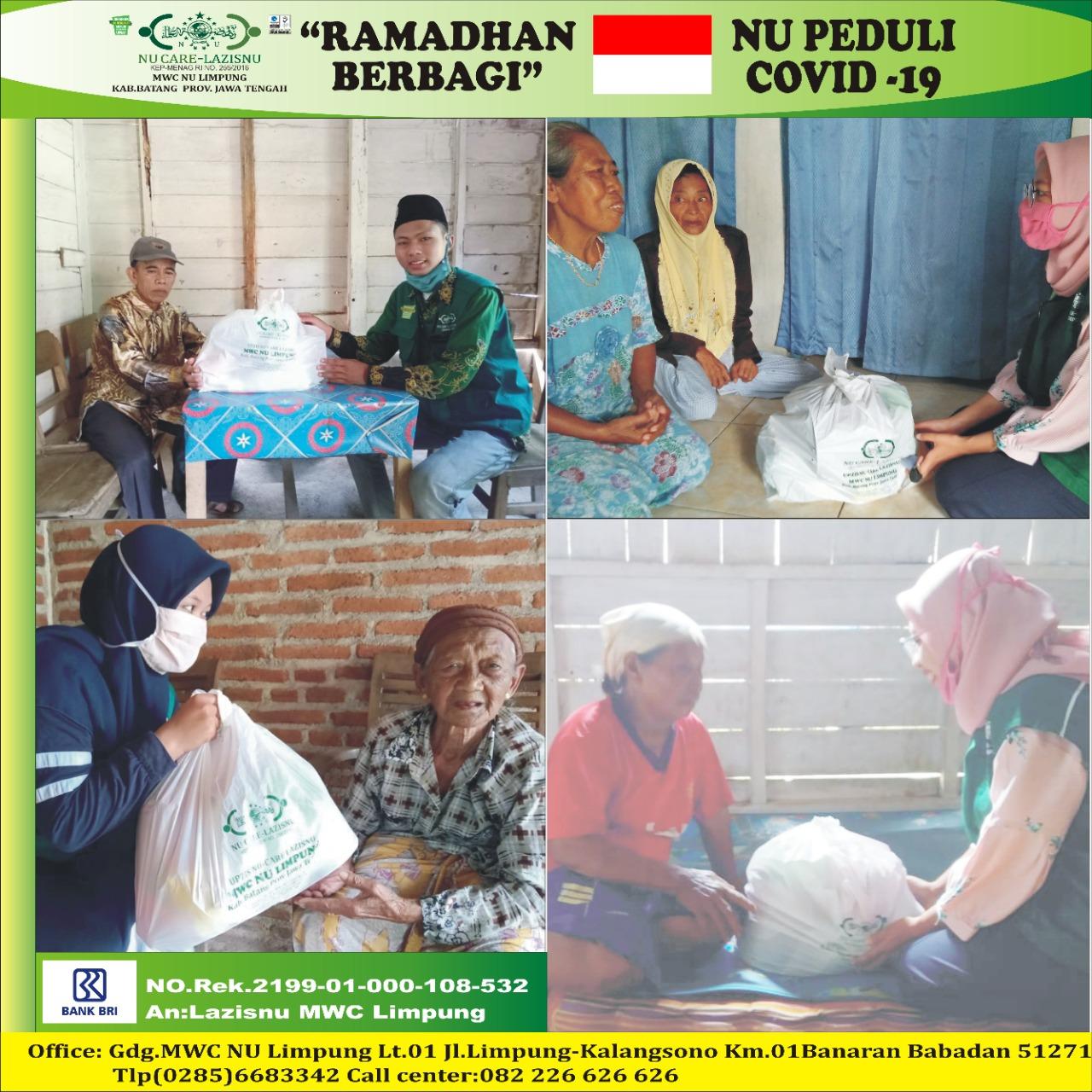 Raih Kebahagiaan di Bulan Suci Ramadhan, LAZISNU Kecamatan Limpung Bagikan  Paket Sembako.