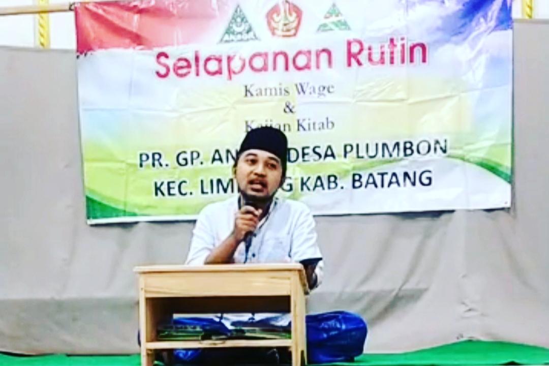 Ngaji Kitab Karya Mbah Bisri, Wakil Ketua GP Ansor Ranting Plumbon Tekankan Bersikap Baik Kepada Non Muslim